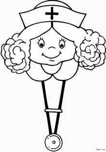 护士头像简笔画_素描护士头像QQ头像大全
